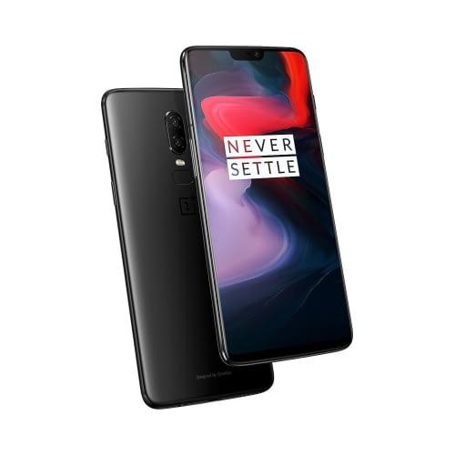 OnePlus 6 4G 64GB (6GB Ram) Dual-Sim Mirror Black EU
