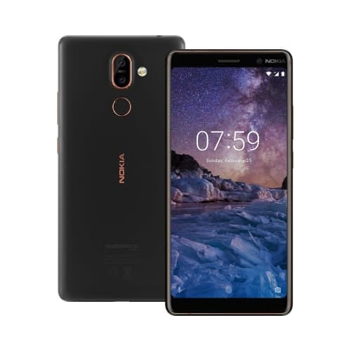 Nokia 7 Plus 4G 64GB Dual-SIM Black Copper EU