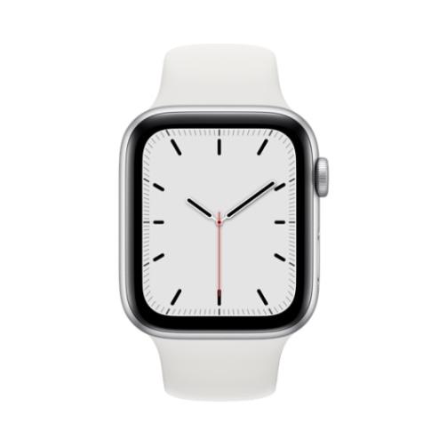 Apple Watch SE Gps 32GB 44mm Silver Aluminium Case + White Sport Band EU