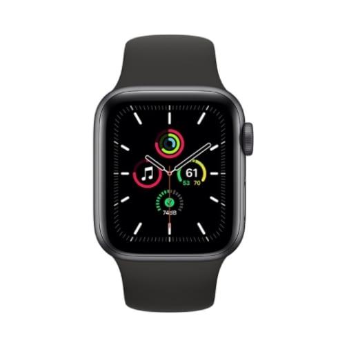 Apple Watch SE Gps 32GB 44mm Space Gray Aluminium Case + Black Sport Band EU