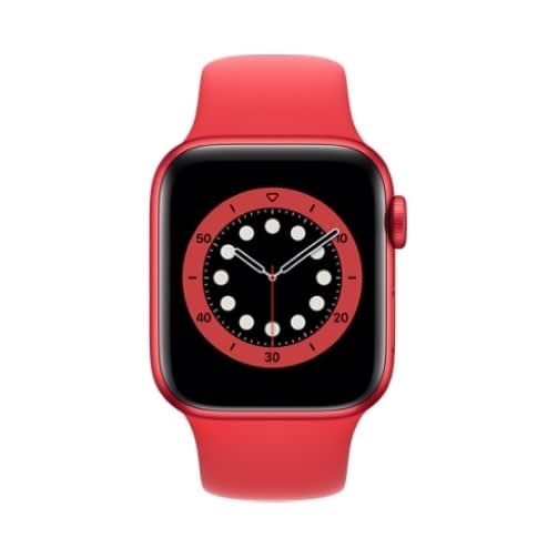 Apple Watch (Series 6 2020) Gps 32Gb 40mm Red Aluminum Case + Red Sport Band EU