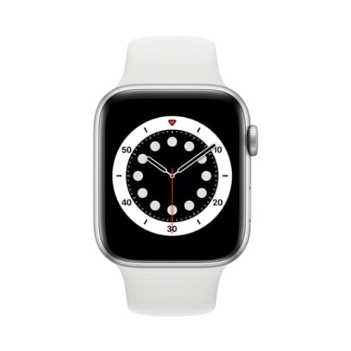Apple Watch (Series 6 2020) Gps 32Gb 44mm Silver Aluminum Case + White Sport Band EU