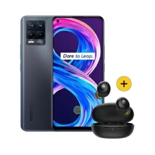 Realme 8 Pro 4G 128GB (8GB Ram) Dual-Sim Infinite Black + Buds Q Set EU